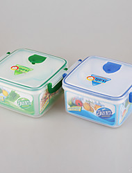 Tableware Plastic Food Container Square Lunchbox