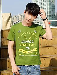 hommes d'été&nouveau t-shirt à manches courtes hommes hommes korean; # 39&# 39; impression de chemise t-shirt col rond creux