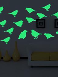 Luminous Wall Stickers Wall Decals Style Cartoon Bird-loving Wall Stickers