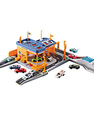 Race Car Parking Garage Toy Set 1:50 ABS Plastic Orange