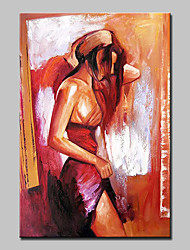 Hand-Painted Sexy Beautiful Woman Oil Painting On Canvas Modern Abstract Wall Art Picture For Home Decoration Ready To Hang