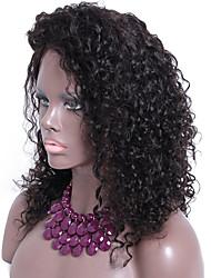 13x6 despedida livre curly perucas peruca frente para as mulheres negras glueless cabelo humano encaracolado nós descorados mongolian 18