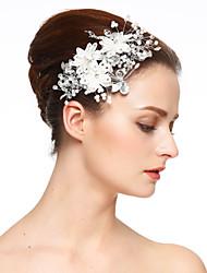 Mujer Encaje Diamantes Sintéticos Perla Artificial Celada-Boda Ocasión especial Flores Clip de Pelo 1 Pieza