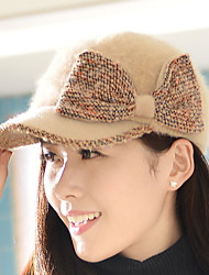 The New Fall And Winter Outdoor Leisure Caps Large Bowknot Rabbit Hair Hat