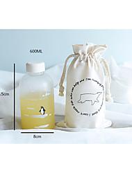 nouveauté transparente à emporter drinkware extérieure, 600 ml étanche verre de jus de nouveauté de l'eau drinkware tumbler