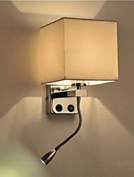 AC 220-240 40W   ledX1W E26/E27 Moderno/ Contemporáneo Cromo Característica for LED,Luz Ambiente Candelabro de pared Luz de pared
