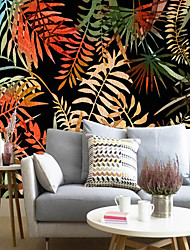 Art Deco Wallpaper For Home Wall Covering Canvas Adhesive required Mural Dark and Simple Flowers  XXXL(448*280cm)XXL(416*254cm)XL(312*219cm)