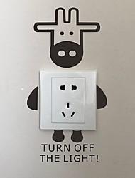 AYA DIY Wall Stickers Wall Decals Cartoon Donkey Type PVC Switch Panel Stickers 14*26cm