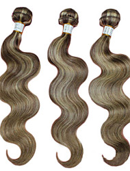 "3Pcs/lot 16""-24"" Brazilian Weaving Hair Bundles Piano Color 8/613 Body Wave Human Hair Weave"