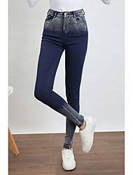 uma mulher leggings grande porte de alta elástica calças jeans calças lápis pés calças seção fina primavera magro