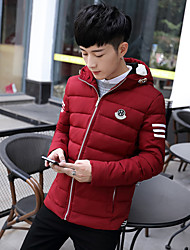 Men's cotton jacket short paragraph thicker coat fall and winter youth sub-trend men's jacket winter coat male models