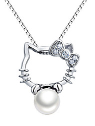 Women's Pendants Pearl Sterling Silver Imitation Pearl Personalized Fashion Adorable Silver Jewelry Daily Casual 1pc