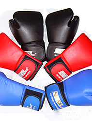Boxing Gloves Unisex Breathable Wearable Tactical Protective Boxing PU Red Black Blue