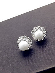 Stud Earrings Jewelry Pearl Sterling Silver Simulated Diamond Fashion Silver Jewelry Daily Casual 1 pair