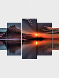 Stretched Canvas Print Landscape Still Life Modern ClassicFive Panels Canvas Any Shape Print Wall Decor For Home Decoration