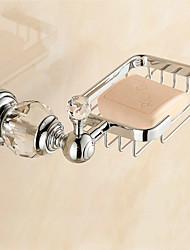 European Style Solid Brass Crystal Bathroom Shelf Bathroom Soap Basket Bathroom Accessories