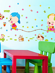 Kindergarten School Cartoon Animal Cute Pig Wall Stickers DIY Children's Removable Wall Decals