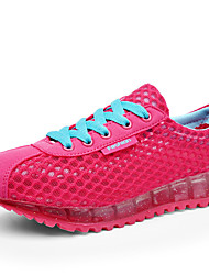 Women's Athletic Shoes Jelly Shoes Spring Summer Fall Winter Suede Tulle Running Shoes Athletic Casual Polka Dot Platform Blue Fuchsia