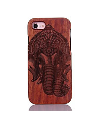 For Shockproof Embossed Pattern Case Back Cover Case Elephant Hard Pear Solid Wood for Apple iPhone 7 7 Plus 6s 6 Plus SE 5s 5