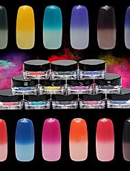 1 г / коробка красочный лазерный серебряный порошок зеркало порошок радуги ногтей пыль блеск хром пигмент ногтей блестки для ногтей