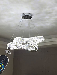 Dimmable LED Ceiling Lighting Pendant Light Lamps Fixtures with Clear K9 Crystal 2 Ring D5070CM CFF UL CE