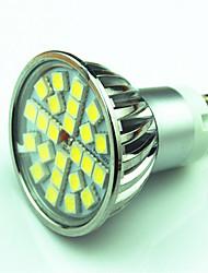 4.5W GU10 Spot LED MR16 24 SMD 5050 300 lm Blanc Chaud Blanc Froid Gradable AC220 V 1 pièce