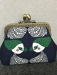 Chinese Style Bag Women Formal Casual Event/Party Wedding Shopping-Coin Purse-Canvas Metal