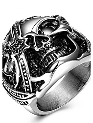 Statement Rings Ring Unique Design Punk Personalized Euramerican Costume Jewelry Fashion Titanium Steel Skull / Skeleton Jewelry Jewelry