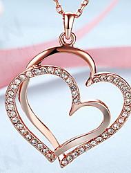 Ожерелья с подвесками Бижутерия В форме сердца 18K золото Сплав Любовь Сердце европейский бижутерия Мода Бижутерия Назначение Повседневные