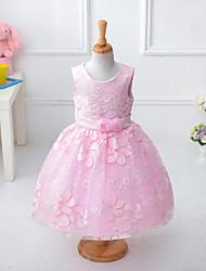 Girl's Jacquard Dress,Cotton Polyester Summer Sleeveless