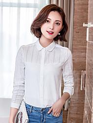 знак весной 2017 новых корейских женщин с длинными рукавами рубашки тонкий кукла воротник рубашки шифон блузка
