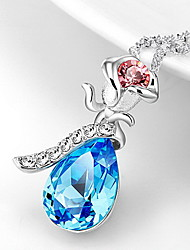 Pendant Necklaces Crystal Crystal Flower Basic Dangling Style Dark Blue Jewelry Daily Casual 1pc