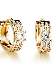 Stud Earrings Rhinestone European Rhinestone 18K gold Imitation Diamond Alloy Jewelry For Daily Casual