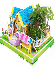 Real Plant Jigsaw Puzzles 3D Puzzles Educational Toy Building Blocks DIY Toys House Paper Model & Building Toy