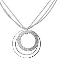 Women's Pendant Necklaces Chain Necklaces Jewelry Copper Silver Plated RoundBasic Circular Unique Design Dangling Style Friendship Cross