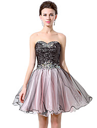 Cocktail party prom dress - funkeln& Shine Ballkleid Schatz kurz / Mini Chiffon mit Pailletten