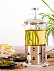 ml  Stainless Steel Glass French Press , 3 cups Scented Tea Maker Reusable
