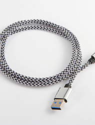 USB 3.0 to Type C Braided Nylon Cable For Samsung Huawei Sony Nokia HTC Motorola LG Lenovo Xiaomi 100 cm
