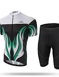 XINTOWN® Short Sleeves Full-Zip Men's Cycling Jersey 3D Gel Padded Shorts Biking Sportswear