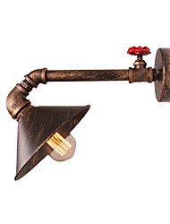 Max 60W Water Pipe Wall Lights Retro Industrial Style Creative Country Metal Restaurant Cafe Bars Bar Table Wall Sconces
