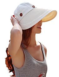 Для женщин Для женщин На каждый день Соломенная шляпа Шляпа от солнца,Хлопок Соломка,Лето