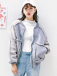 signer 16 korean hiver manteau de laine d'agneau suède vêtements de baseball féminins en vrac, plus velours épais rembourré de coton