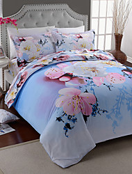 3D(random pattern) Poly/Cotton 4 Piece Duvet Cover Sets