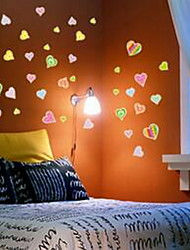 Cartoon Colorful Love Luminous Wall Stickers Vinyl Material Home Decoration