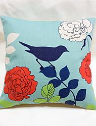 1 pcs Cotton/Linen Pillow Case Body Pillow Travel Pillow Sofa Cushion Pillow Cover,Floral Still Life Graphic PrintsAccent/Decorative