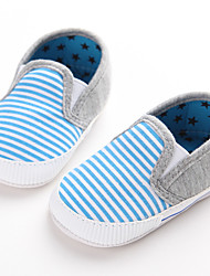 Baby Flats First Walkers Fabric Spring Fall Casual Outdoor Walking First Walkers Low Heel Ruby Blue Light Blue Flat