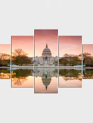 Stretched Canvas Print Landscape Still Life Style Classic,Five Panels Canvas Any Shape Print Wall Decor For Home Decoration
