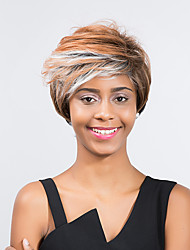 New Style Fashionable  Fluffy Mixed Color Short Hair  Synthetic Wig