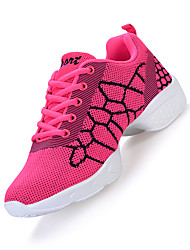 Non Customizable Women's Dance Shoes Fabric Fabric Dance Sneakers Modern Sneakers Chunky Heel Professional Black Pink White
