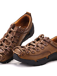 Men's Sneakers Spring Summer Fall Winter Comfort Nappa Leather Outdoor Office & Career Casual Party & Evening Work & Safety Hiking Ruffles